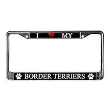 Black I Love My Border Terriers Frame