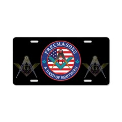 Freemasons. A Band of Brothers Aluminum License Pl