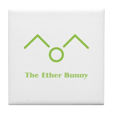 The Ether Bunny Tile Coaster