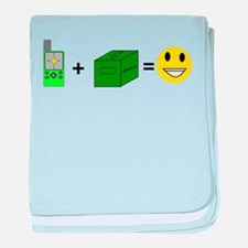 Happy Caching baby blanket