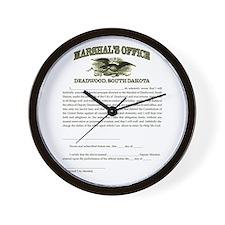 Deadwood Marshal Wall Clock