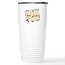 How yes no Travel Mug