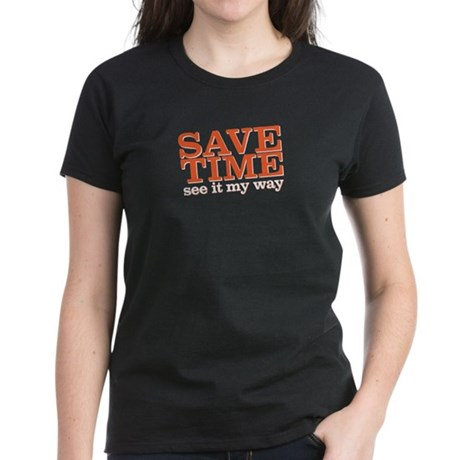 save time Women's Dark T-Shirt