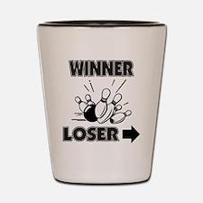 Funny Bowling Winner Loser Shot Glass