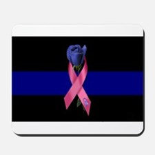 Blue Line Rose Mousepad