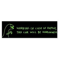 In Case Of Raptor bumper sticker