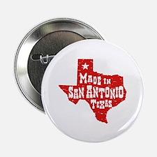 """Made In San Antonio Texas 2.25"""" Button"""