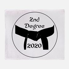 Martial Arts 2nd Degree Black Belt Throw Blanket