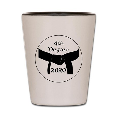 4th Degree Black Belt Shot Glass