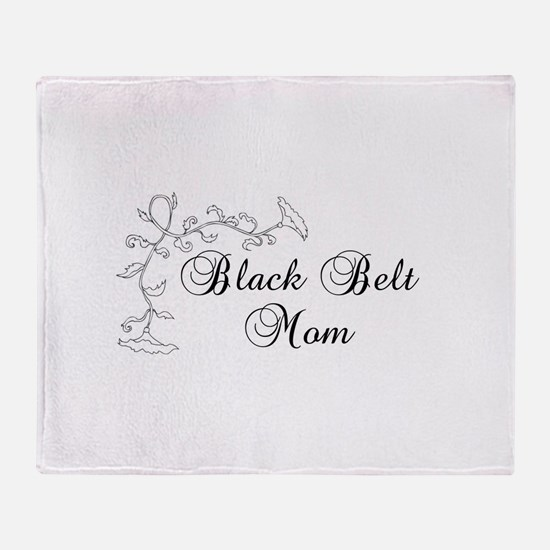Black Belt Mom Throw Blanket