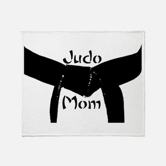 Martial Arts Judo Mom Throw Blanket