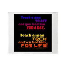 Teach Tech For Life! Throw Blanket