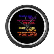 Teach Tech For Life! Large Wall Clock
