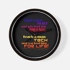 Teach Tech For Life! Wall Clock