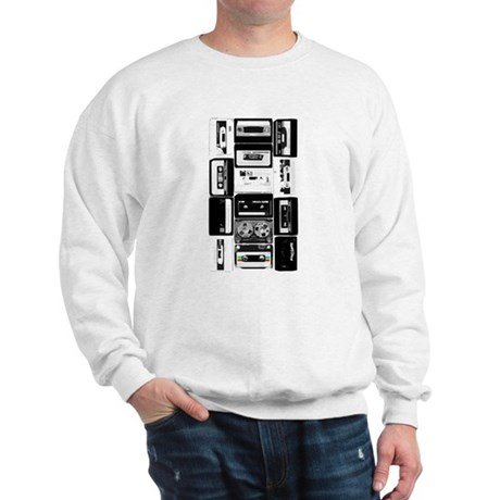 Audio Music Cassettes B&W Sweatshirt