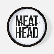 Meat Head Wall Clock