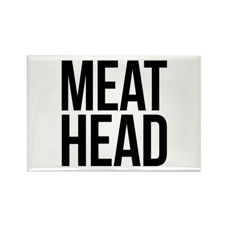 Meat Head Rectangle Magnet (10 pack)