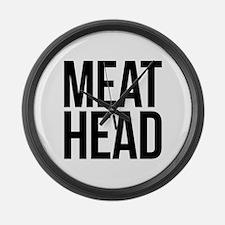 Meat Head Large Wall Clock