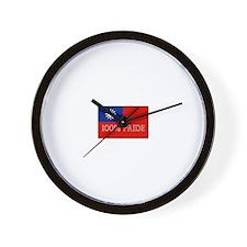 100% PRIDE Wall Clock