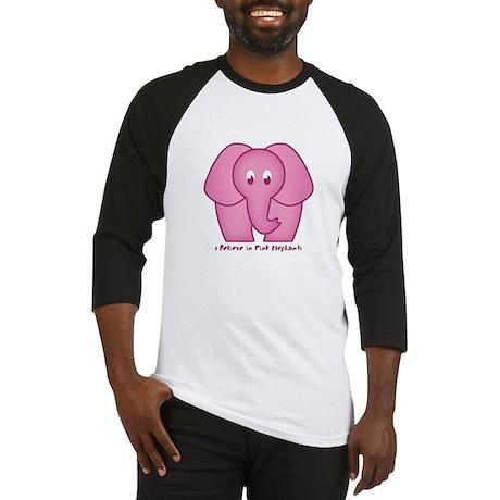 Pink Elephants Baseball Jersey