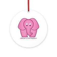 Pink Elephants Ornament (Round)