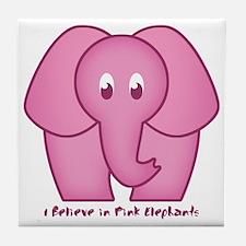 Pink Elephants Tile Coaster