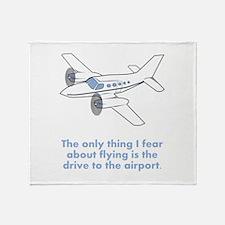 Airplane Fear Throw Blanket