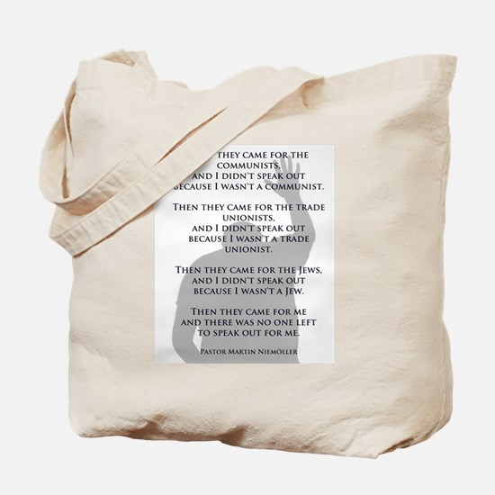 Who will speak Tote Bag