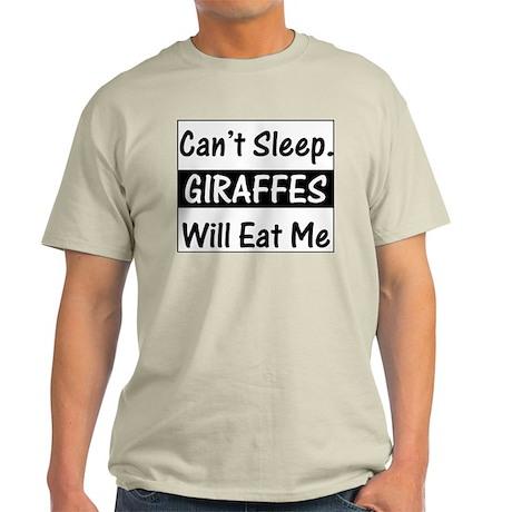Giraffes Will Eat Me Ash Grey T-Shirt