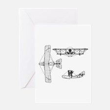 Airplane Blueprint Greeting Card
