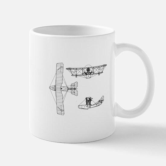 Airplane Blueprint Mug