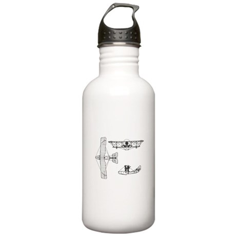 Airplane Blueprint Stainless Water Bottle 1.0L