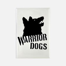 Warrior Dogs Rectangle Magnet
