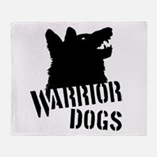 Warrior Dogs Throw Blanket