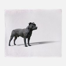 Standing Staffordshire BUll Terrier Throw Blanket