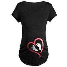 baby feet heart T-Shirt