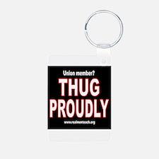THUG PROUDLY! Aluminum Photo Keychain