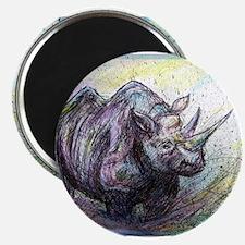 Rhino, wildlife, Magnet