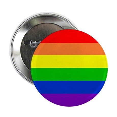 """LGBT Rights & Pride Rainbow - 2.25"""" Button"""