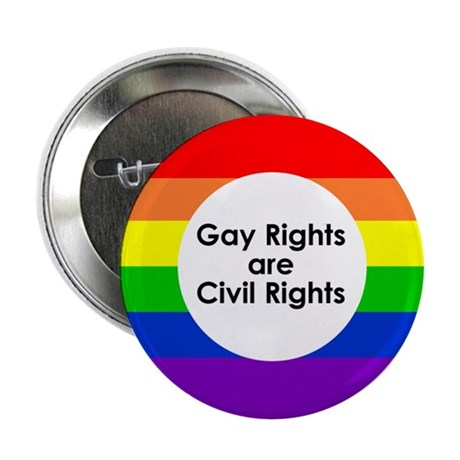 "LGBT Rights & Pride Rainbow - 2.25"" Button"