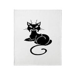 Cute Cat Meow Throw Blanket