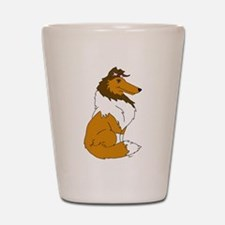 Sable Rough Collie Shot Glass