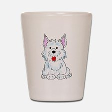 West Highland Terrier Shot Glass