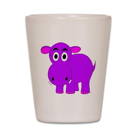 Purple Hippo Shot Glass