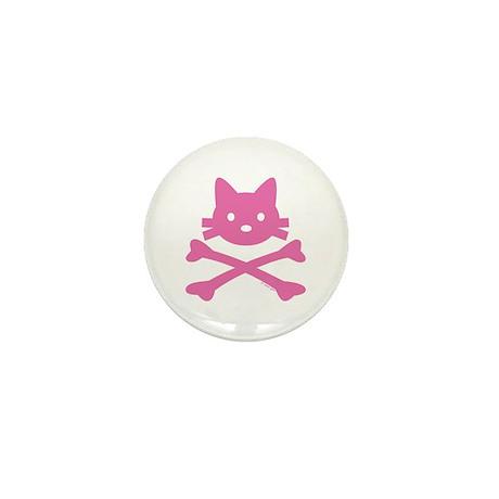 Pirate Cat Skull Mini Button (10 pack)