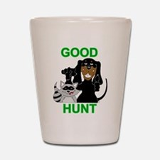 Raccoon Hunting Hound Shot Glass