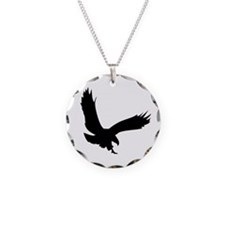 Hawk Necklace Circle Charm