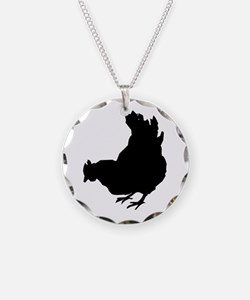 Chicken Necklace Circle Charm