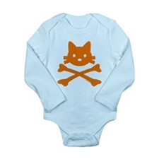 Kitty Crossbones Long Sleeve Infant Bodysuit