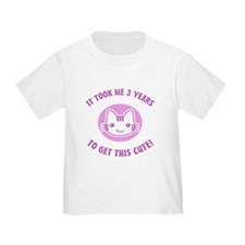 Cute 3rd Birthday (Pink) T